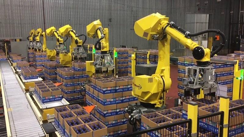 robots triage bouteilles