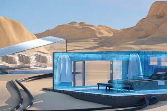 système refroidissement climatisation soleil eau salée