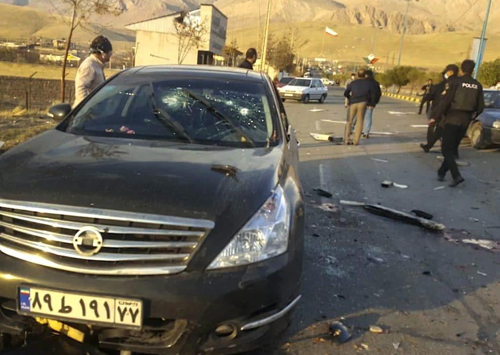 vehicule mohsen fakhrizadeh assassinat absard fusil robot