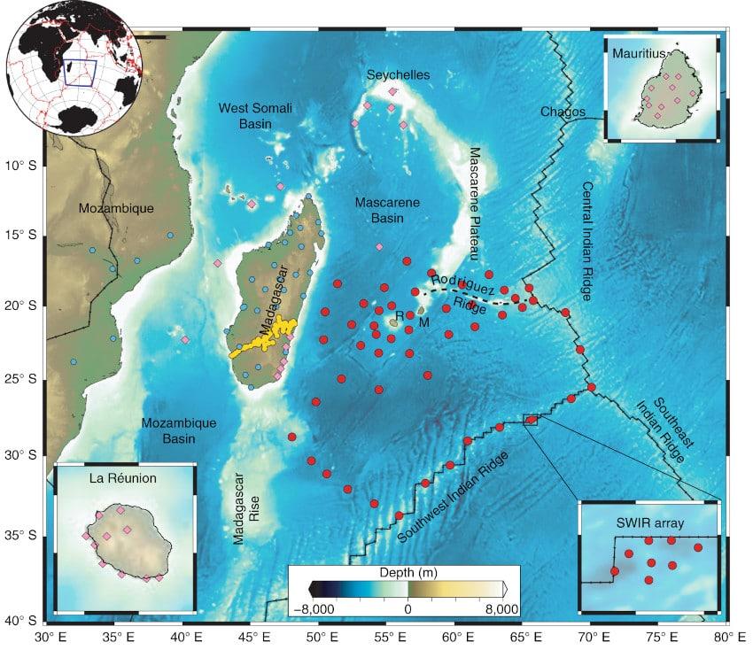 carte données sismiques réunion