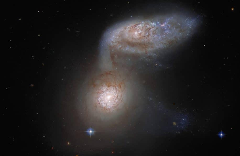 fusion galaxies hubble