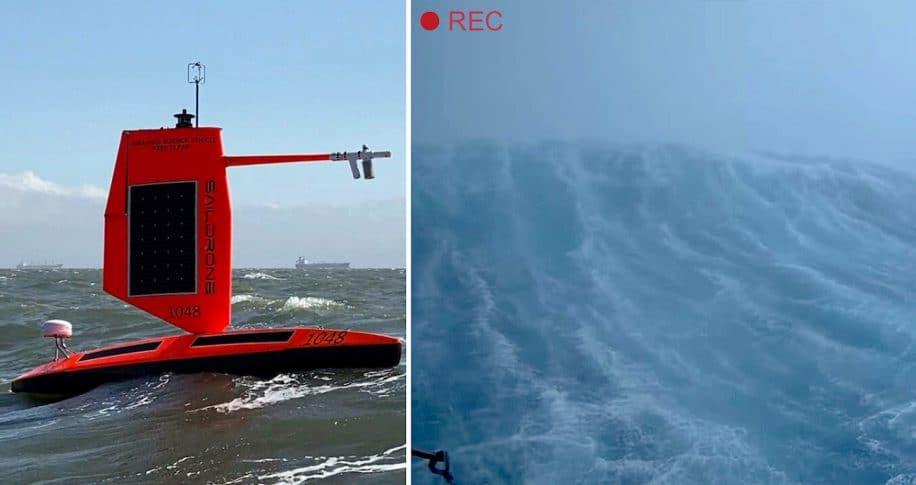 premiere fois drone oceanique capture images interieur ouragan