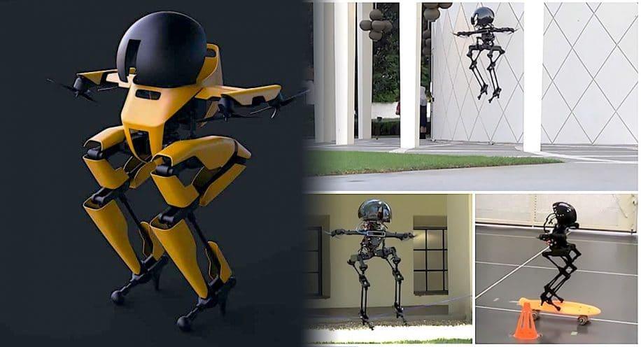 robot bipede leonardo capable voler faire skateboard et equilibrisme sur corde