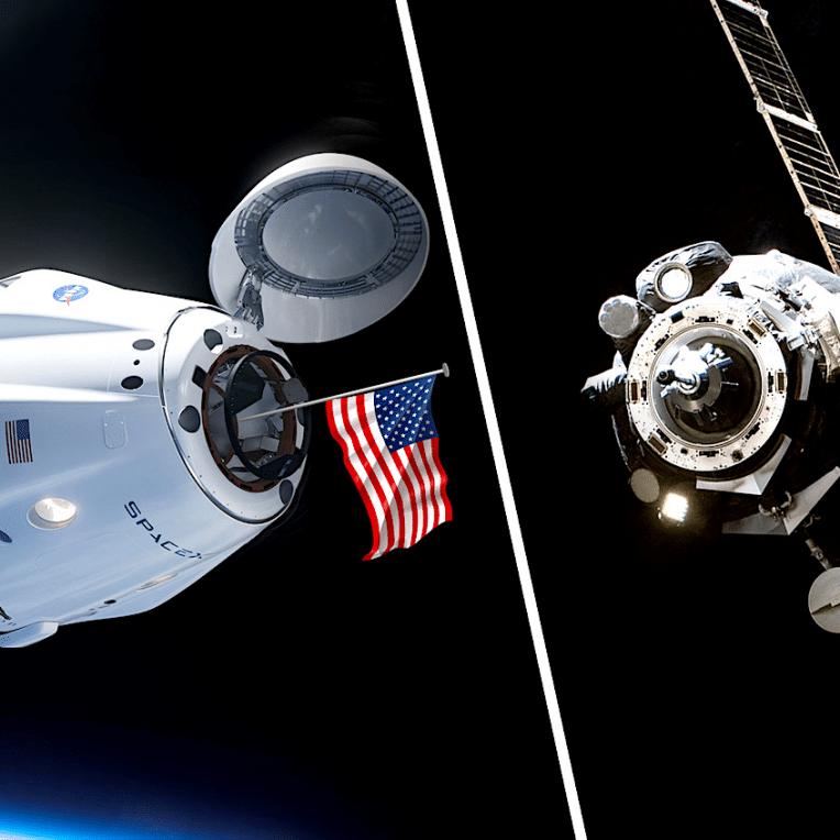 russie abandonne face spacex cosmonautes utiliseront crew dragon