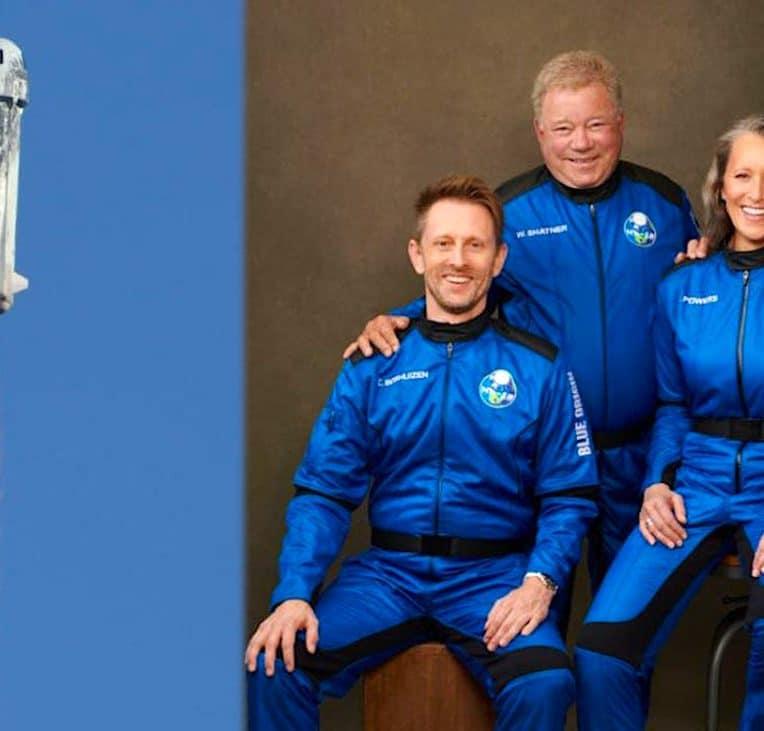 vol spatial william shatner blue origin succes